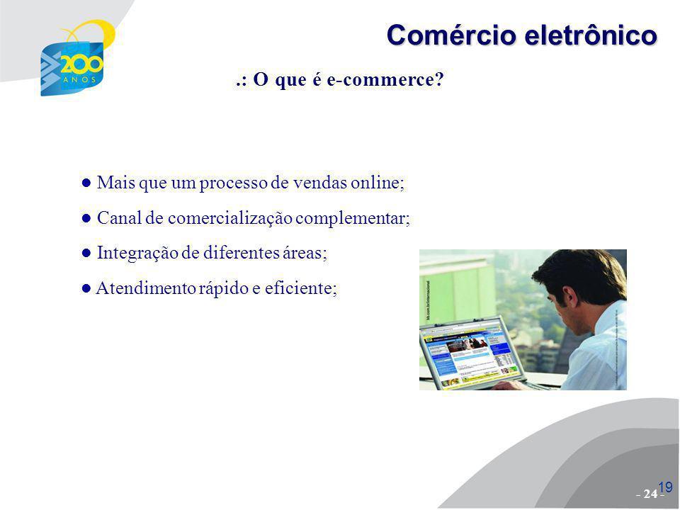 20.: Cenário atual - Brasil 1º semestres 20082009 R$ 3,8 bi R$ 4,8 bi ano 20082009 R$ 8,2 bi R$ 10,5 bi* *estimativa - 25 - Comércio eletrônico
