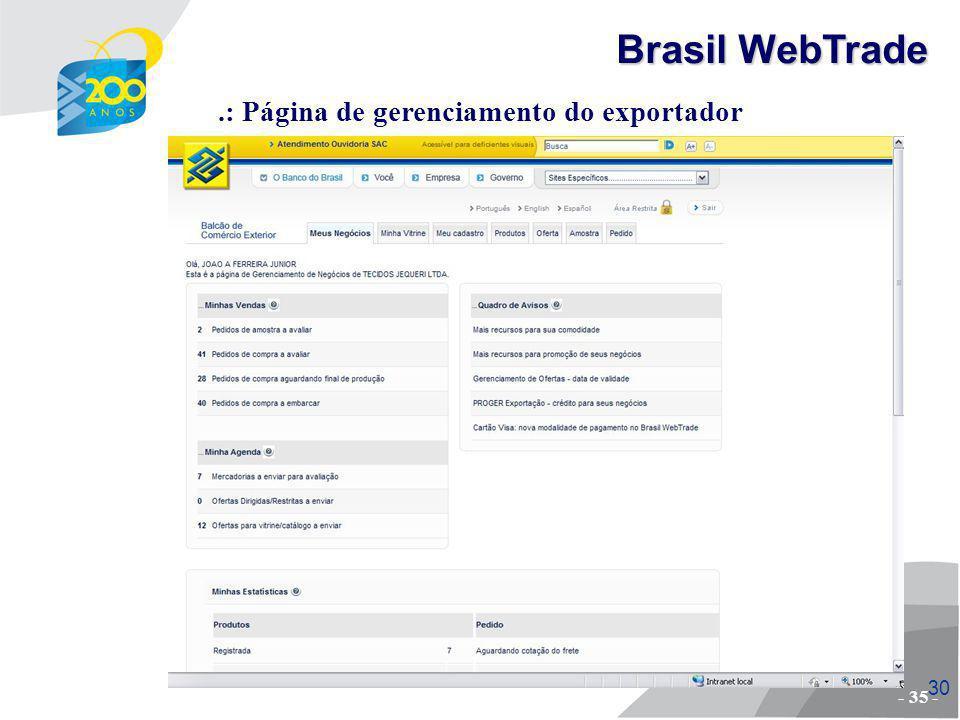 31 Pesquisa por palavra-chave..: Simulando uma compra - 36 - Brasil WebTrade