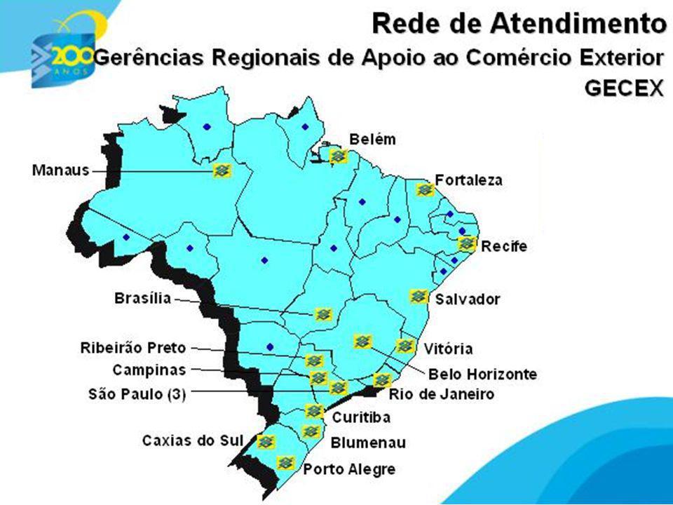5 5 rede de atendimento especializada em câmbio e comércio exterior Banco do Brasil Funções Apoio aos negócios Financiamento Consultoria Treinamento Emissão de documentos legais: LI, Form A, AC Drawback (Convênio MDIC) Suporte operacional - câmbio e comex
