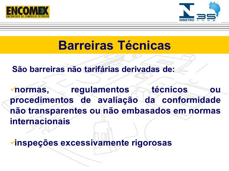São barreiras não tarifárias derivadas de: normas, regulamentos técnicos ou procedimentos de avaliação da conformidade não transparentes ou não embasa