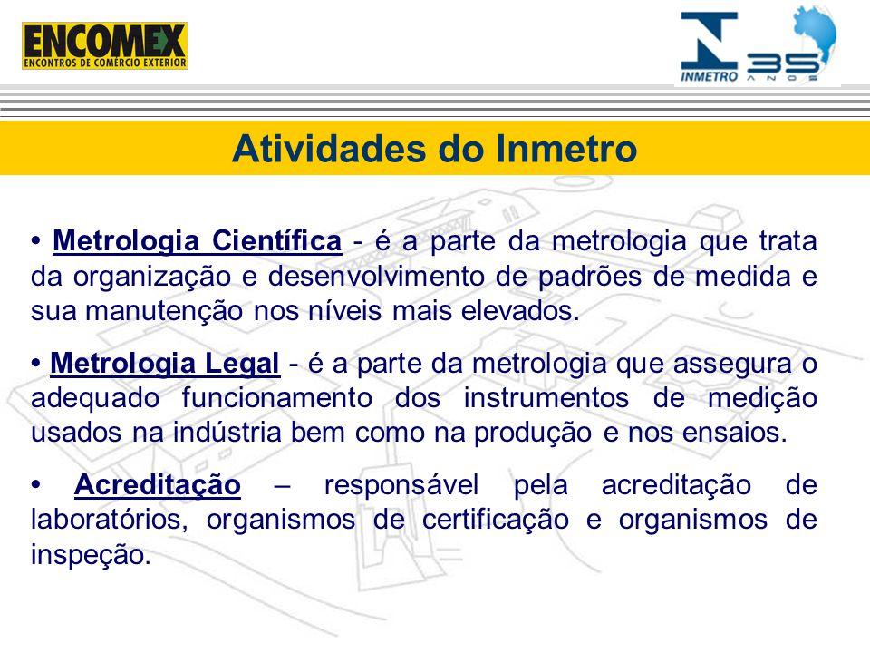 Metrologia Científica - é a parte da metrologia que trata da organização e desenvolvimento de padrões de medida e sua manutenção nos níveis mais eleva