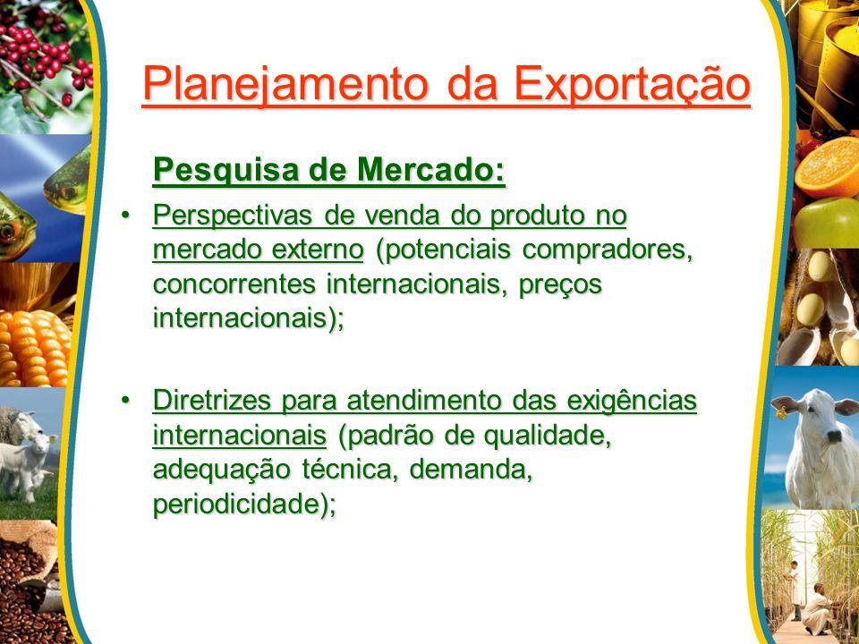 Planejamento da Exportação Onde obter informação.