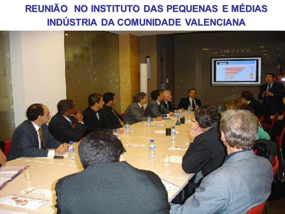 REUNIÃO NO INSTITUTO DAS PEQUENAS E MÉDIAS INDÚSTRIA DA COMUNIDADE VALENCIANA