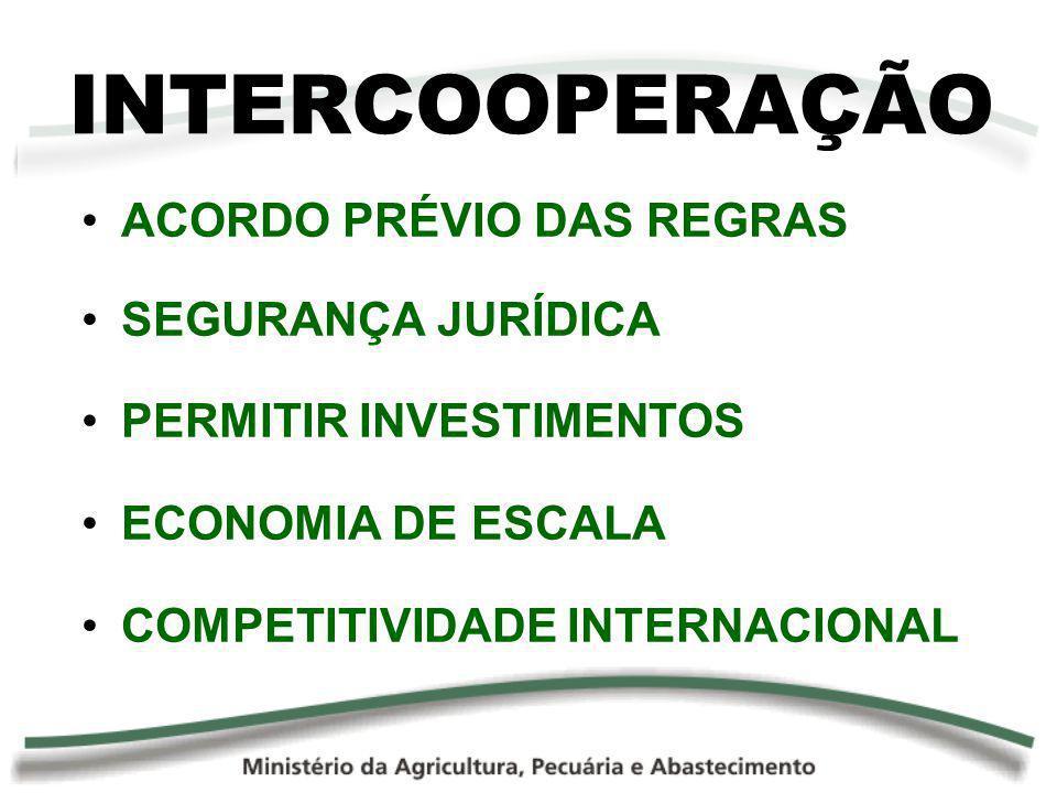 ACORDO PRÉVIO DAS REGRAS SEGURANÇA JURÍDICA PERMITIR INVESTIMENTOS ECONOMIA DE ESCALA COMPETITIVIDADE INTERNACIONAL INTERCOOPERAÇÃO