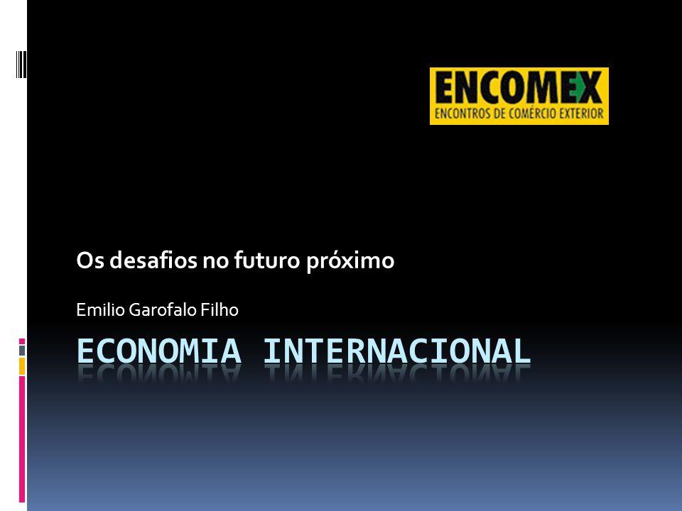 Crise Financeira X Comércio A crise de 2007/9 redução no comércio mundial.