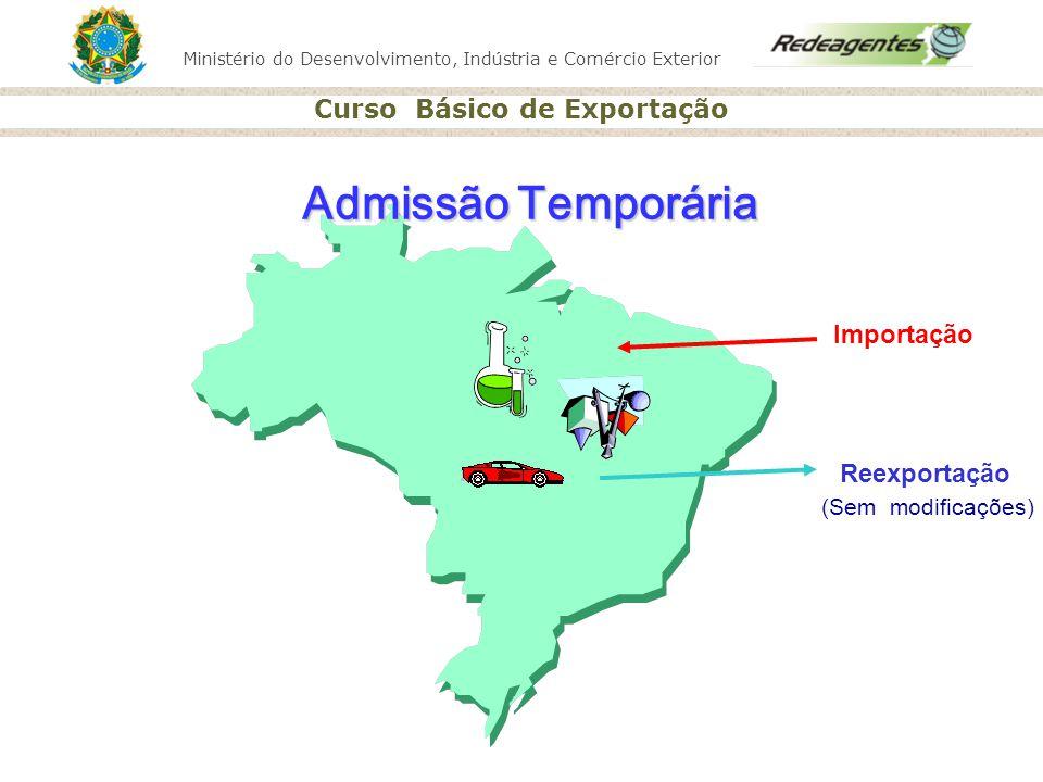 Ministério do Desenvolvimento, Indústria e Comércio Exterior Curso Básico de Exportação (Sem modificações) Admissão Temporária Importação Reexportação