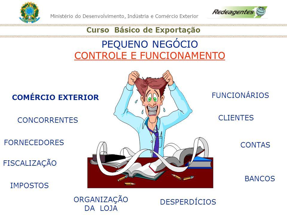Ministério do Desenvolvimento, Indústria e Comércio Exterior Curso Básico de Exportação PEQUENO NEGÓCIO CONTROLE E FUNCIONAMENTO CONCORRENTES FORNECED