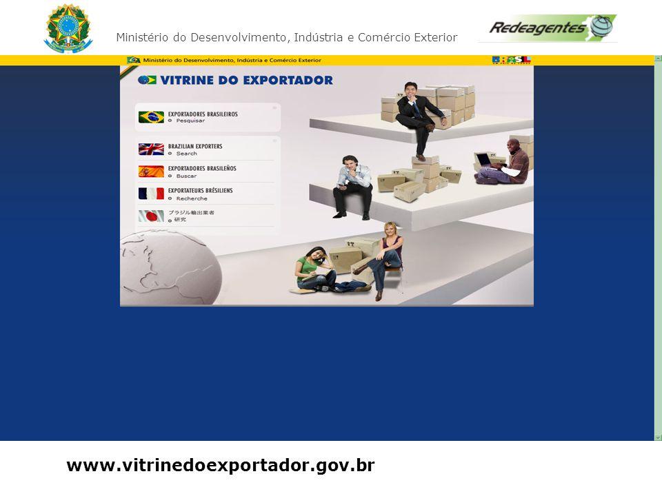 Ministério do Desenvolvimento, Indústria e Comércio Exterior Curso Básico de Exportação www.vitrinedoexportador.gov.br