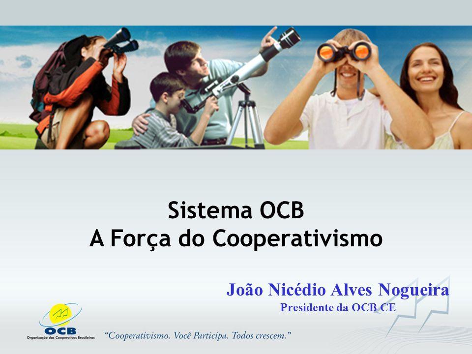 Sistema OCB A Força do Cooperativismo João Nicédio Alves Nogueira Presidente da OCB CE