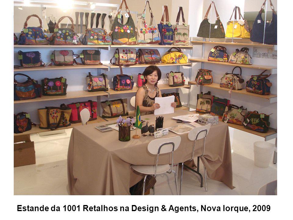 Estande da 1001 Retalhos na Design & Agents, Nova Iorque, 2009