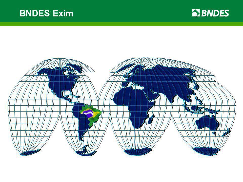 Objetivos – BNDES Exim Apoiar a exportação de bens e serviços brasileiros de maior valor agregado.