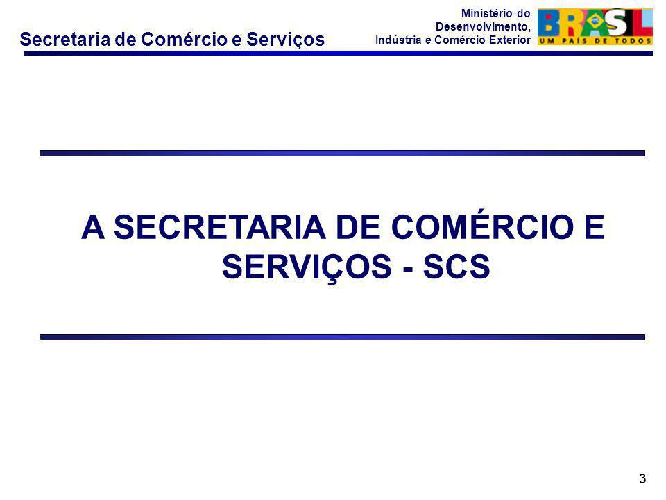 Secretaria de Comércio e Serviços Ministério do Desenvolvimento, Indústria e Comércio Exterior 33 A SECRETARIA DE COMÉRCIO E SERVIÇOS - SCS