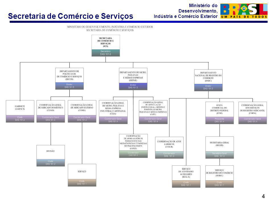 Secretaria de Comércio e Serviços Ministério do Desenvolvimento, Indústria e Comércio Exterior 44