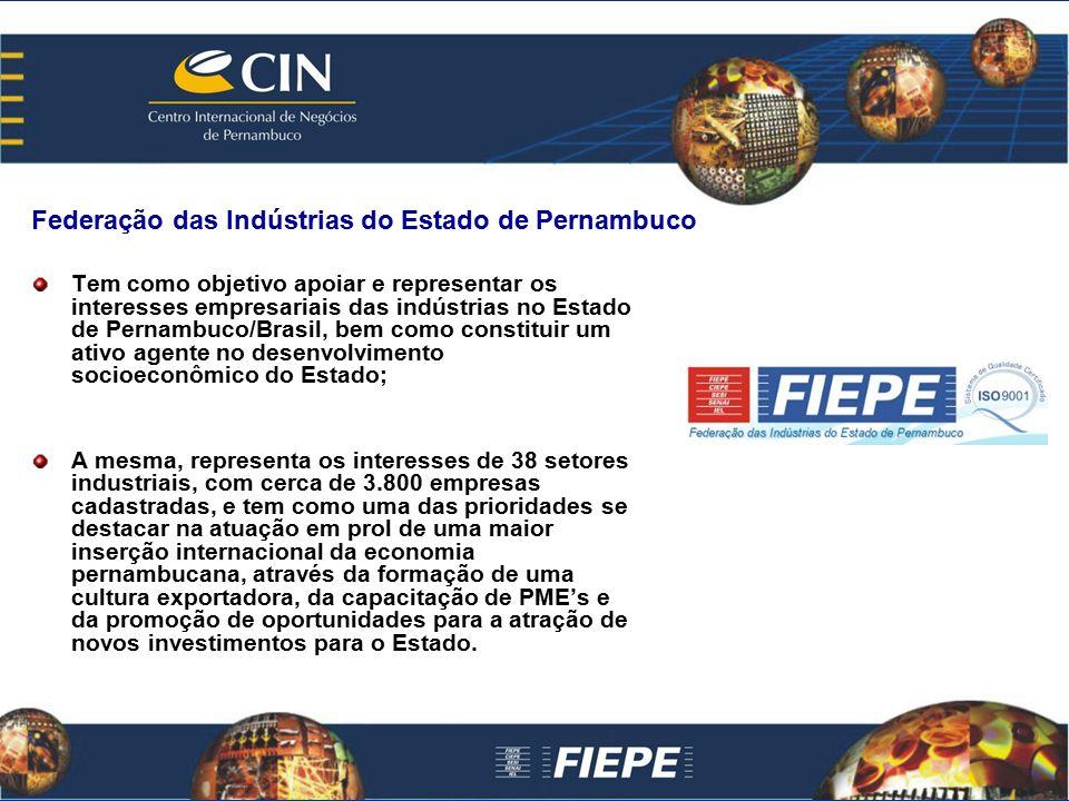 Tem como objetivo apoiar e representar os interesses empresariais das indústrias no Estado de Pernambuco/Brasil, bem como constituir um ativo agente n