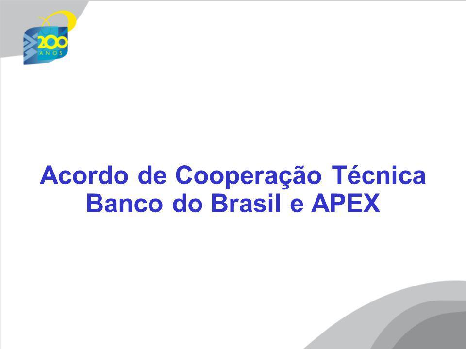 Acordo de Cooperação Técnica Banco do Brasil e APEX