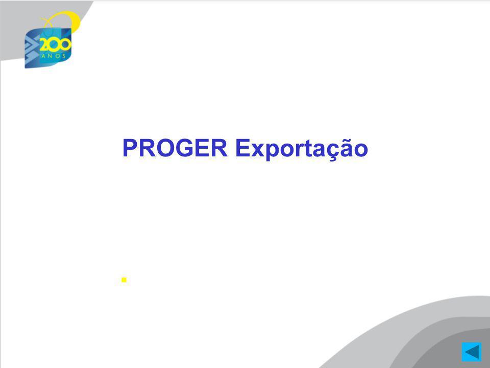 PROGER Exportação