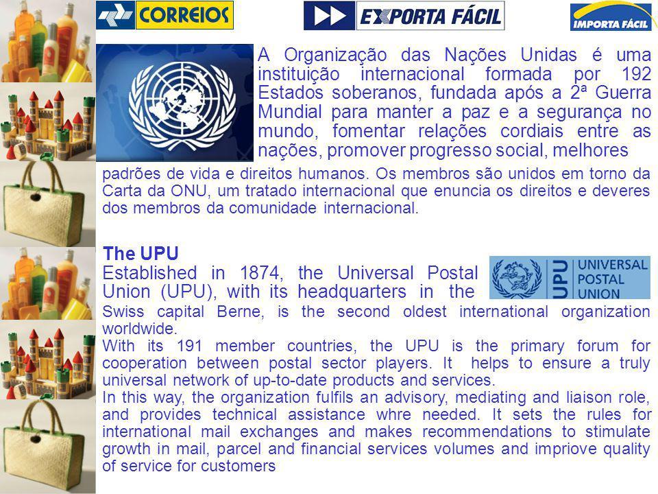 A Organização das Nações Unidas é uma instituição internacional formada por 192 Estados soberanos, fundada após a 2ª Guerra Mundial para manter a paz