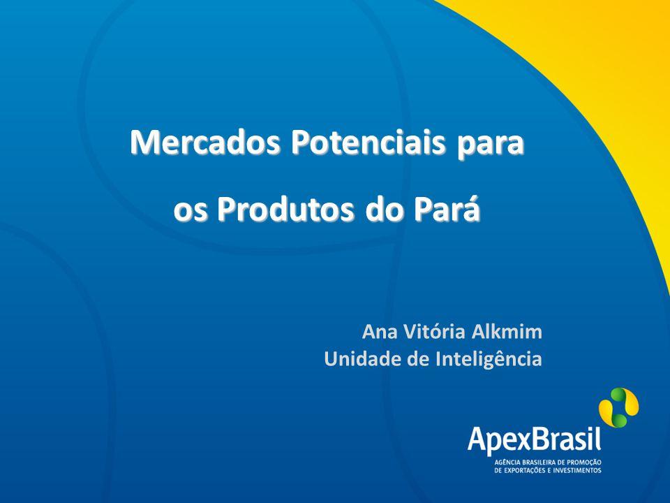 Título da apresentação Mercados Potenciais para os Produtos do Pará Ana Vitória Alkmim Unidade de Inteligência