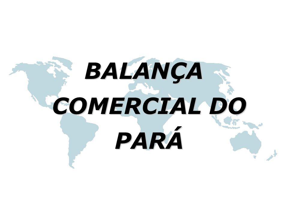 BALANÇA COMERCIAL DO PARÁ