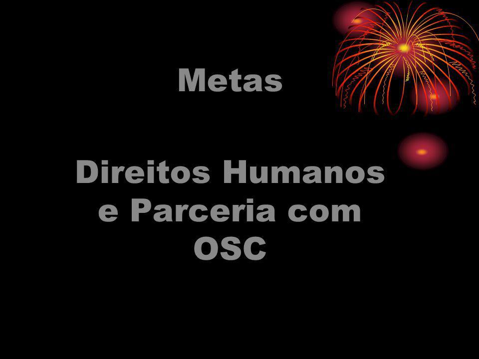 Metas Direitos Humanos e Parceria com OSC