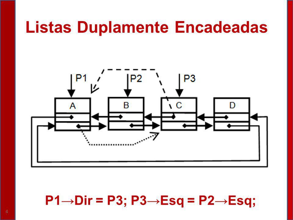 4 P1Dir = P3; P3Esq = P2Esq;