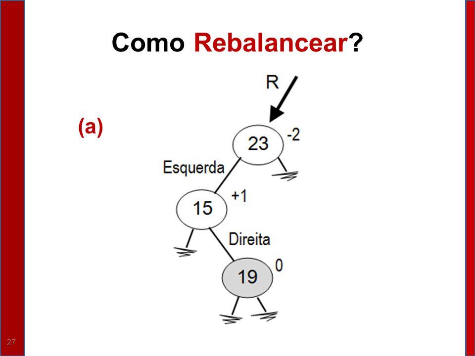 27 Como Rebalancear? (a)