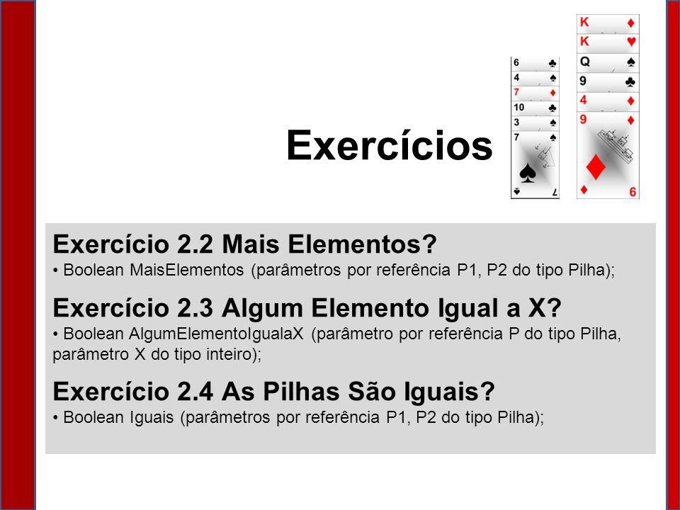 Exercício 2.2 Mais Elementos.