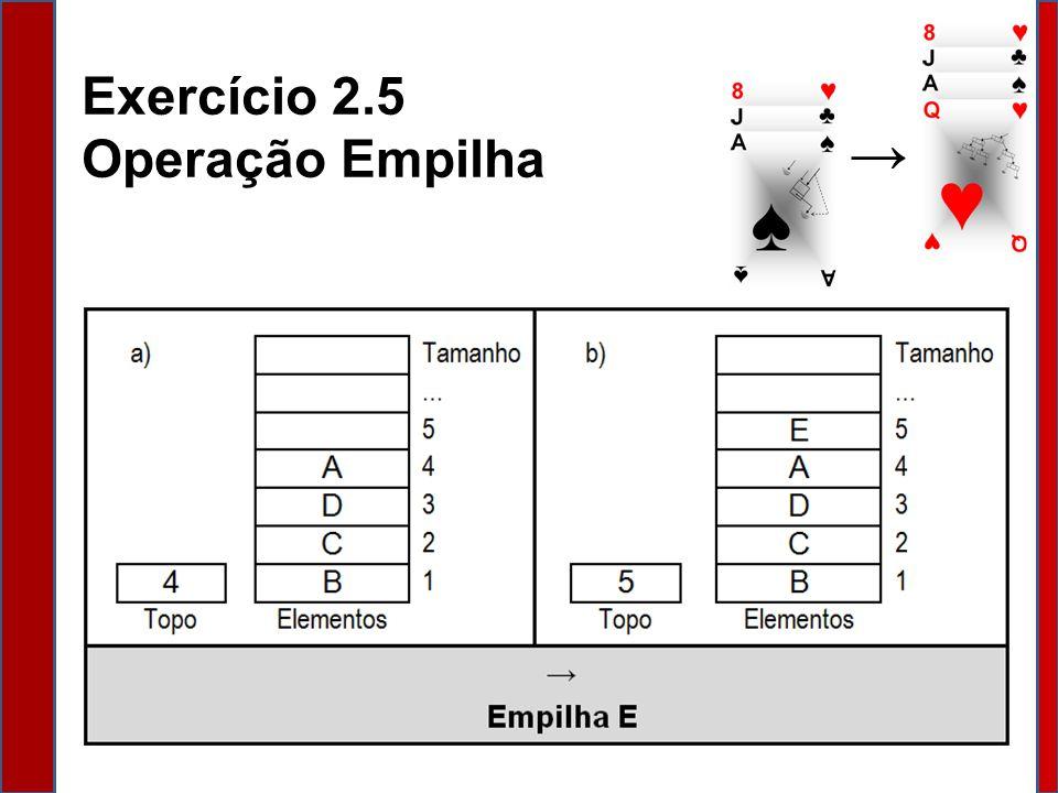 Exercício 2.5 Operação Empilha