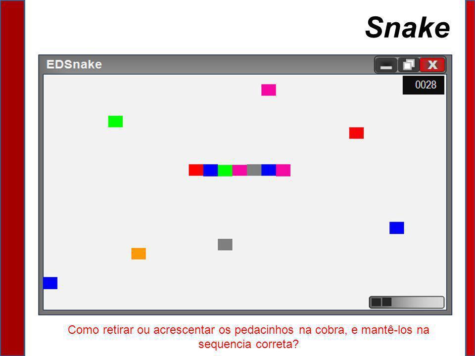 Snake Como retirar ou acrescentar os pedacinhos na cobra, e mantê-los na sequencia correta?