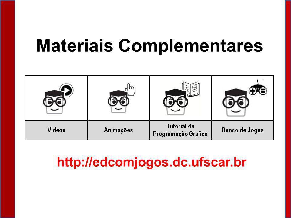 Materiais Complementares http://edcomjogos.dc.ufscar.br