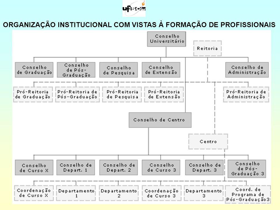 ORGANIZAÇÃO INSTITUCIONAL COM VISTAS À FORMAÇÃO DE PROFISSIONAIS