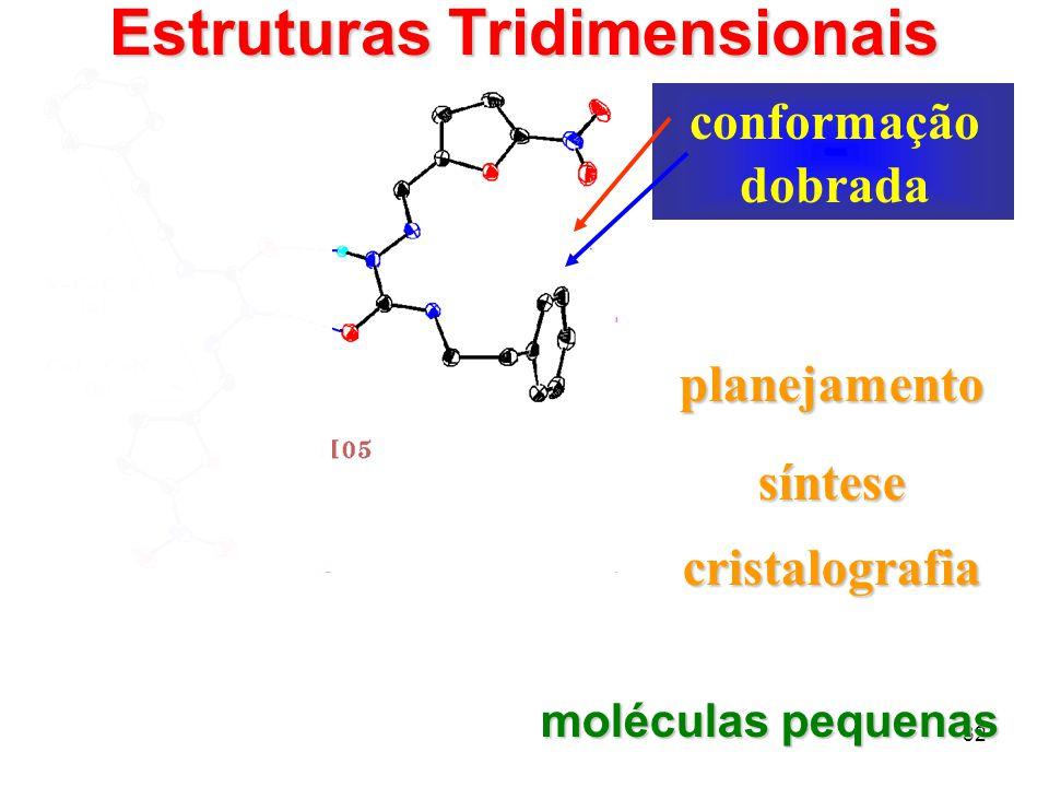 32 1 conformação planejada conformação dobrada cristalografia planejamento moléculas pequenas síntese Estruturas Tridimensionais