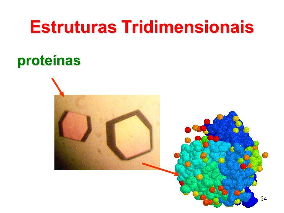 34 Estruturas Tridimensionais proteínas
