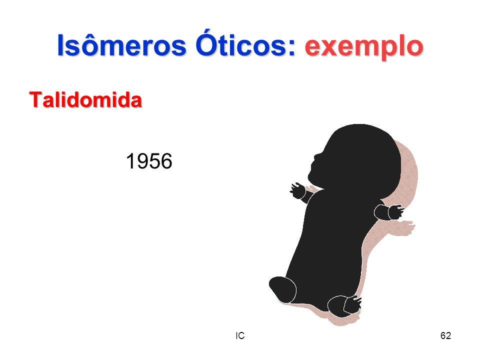 IC62 Isômeros Óticos: exemplo Talidomida 1956