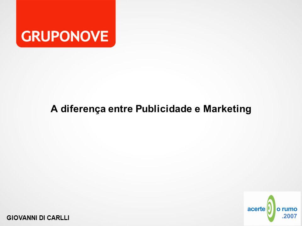 GIOVANNI DI CARLLI A diferença entre Publicidade e Marketing