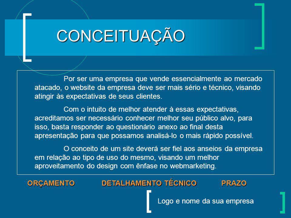 Logo e nome da sua empresa CLIENTE: EMPRESA FICTÍCIA PROJETO: CRIAÇÃO E DESENVOLVIMENTO DE WEBSITE PRAZO DETALHAMENTO TÉCNICO DETALHAMENTO TÉCNICO CON