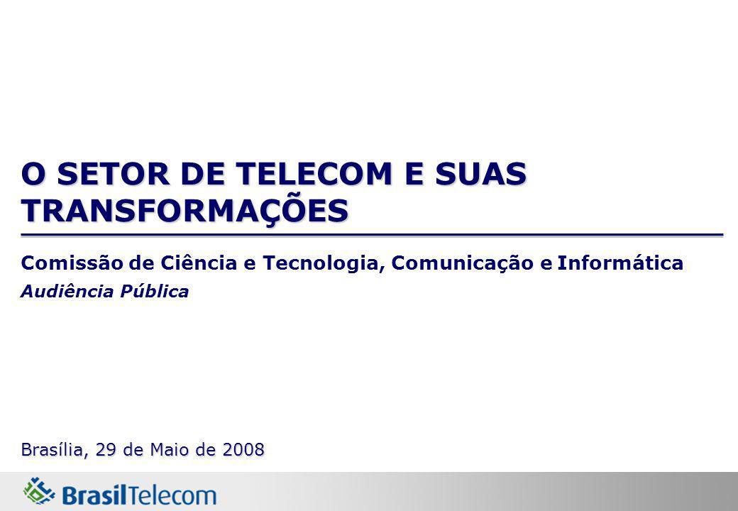 O SETOR DE TELECOM E SUAS TRANSFORMAÇÕES Comissão de Ciência e Tecnologia, Comunicação e Informática Audiência Pública Brasília, 29 de Maio de 2008
