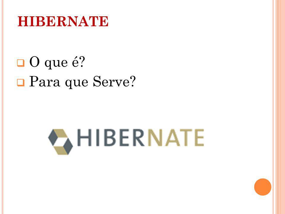 HIBERNATE O que é? Para que Serve?