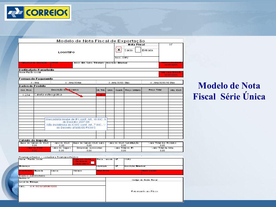 Modelo de Nota Fiscal Série Única
