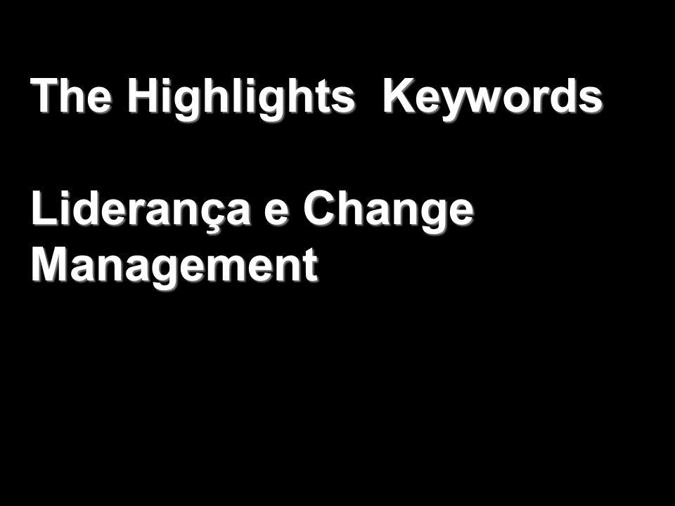 The Highlights Keywords Liderança e Change Management