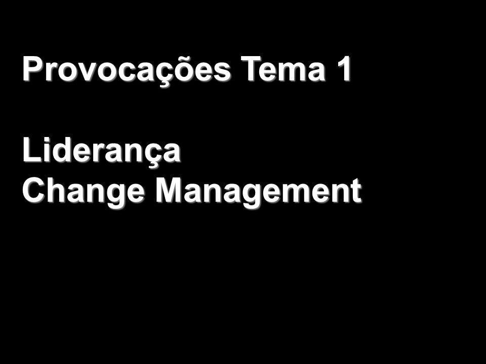 Provocações Tema 1 Liderança Change Management