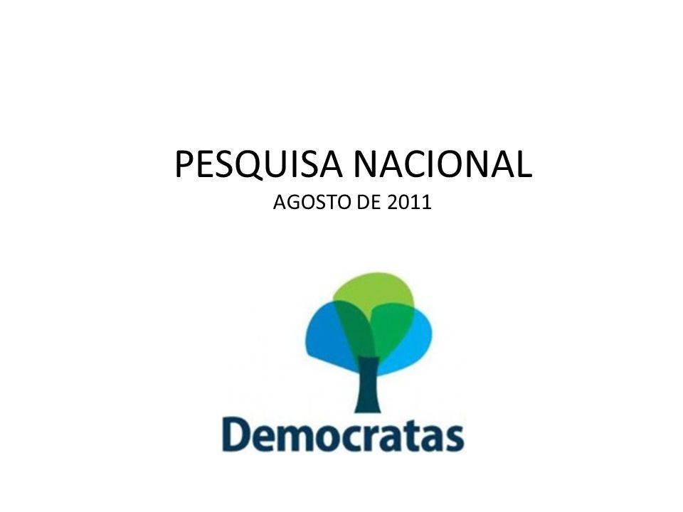 PESQUISA NACIONAL AGOSTO DE 2011