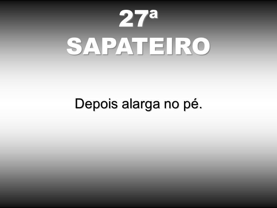 27ªSAPATEIRO