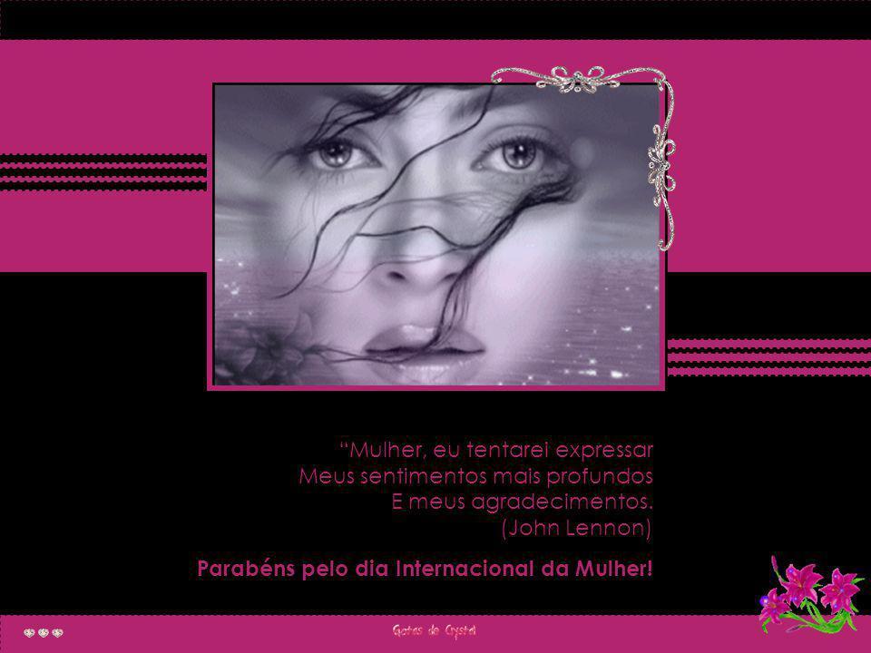 Uma mulher forte tem o olhar de segurança na face...