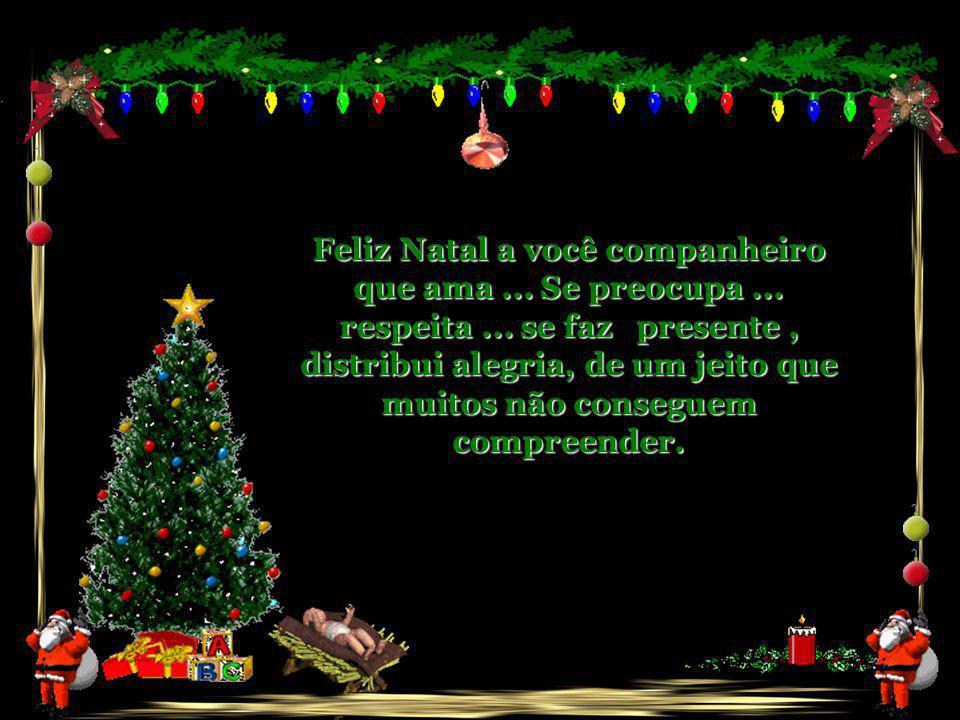 Feliz Natal a você companheiro que escutou meus anseios...