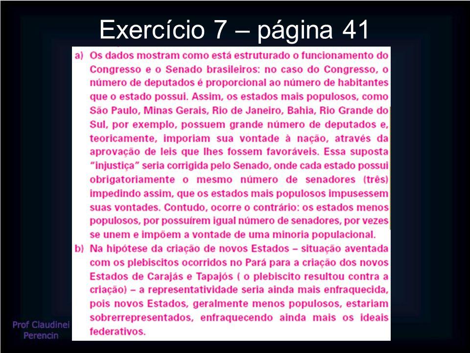 Exercício 7 – página 41