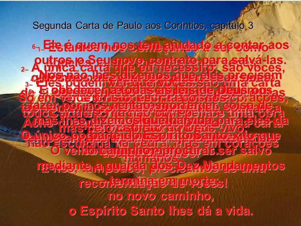 SEGUNDA CARTA DE PAULO AOS CORÍNTIOS, CORÍNTIOS, Capítulo 3