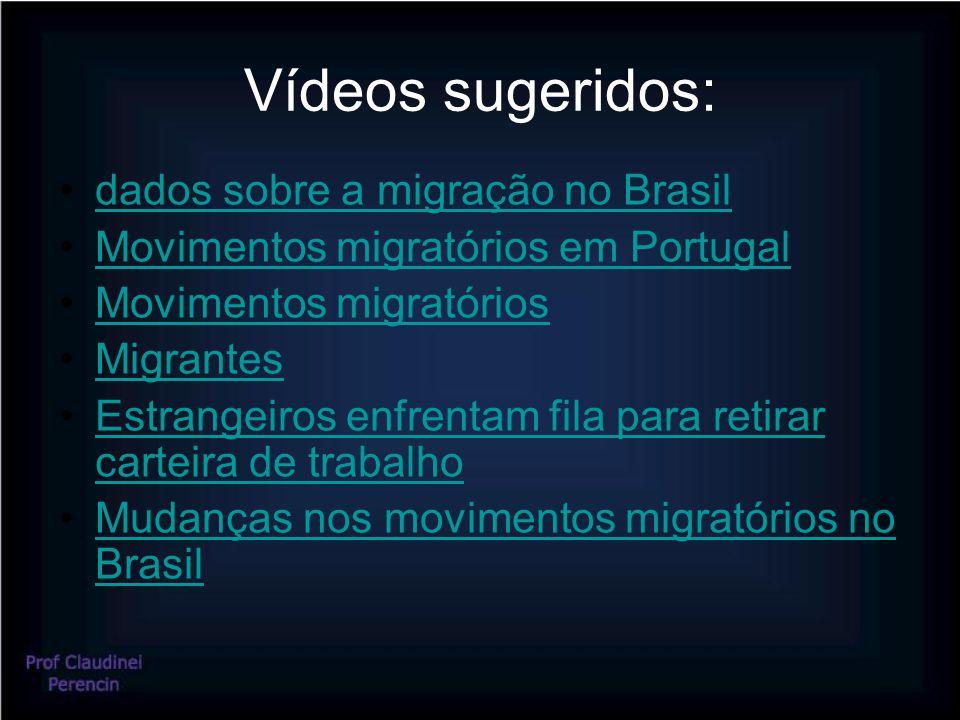 Vídeos sugeridos: dados sobre a migração no Brasil Movimentos migratórios em Portugal Movimentos migratórios Migrantes Estrangeiros enfrentam fila para retirar carteira de trabalhoEstrangeiros enfrentam fila para retirar carteira de trabalho Mudanças nos movimentos migratórios no BrasilMudanças nos movimentos migratórios no Brasil