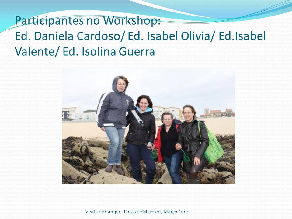 Participantes no Workshop: Ed.Daniela Cardoso/ Ed.