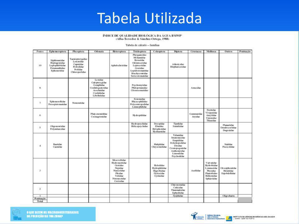 Tabela Utilizada